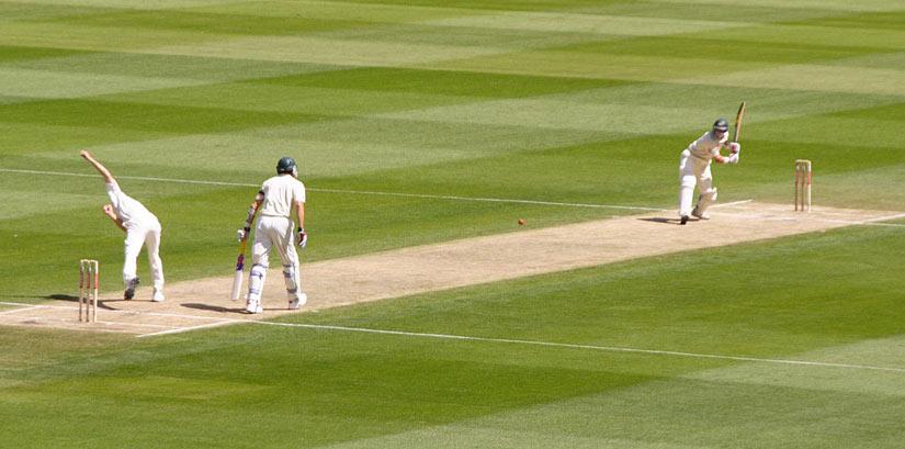 Australian cricket team playing