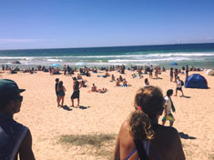 Beach at the Australian Open of Surfing