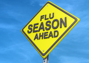 Flu Season Ahead road sign
