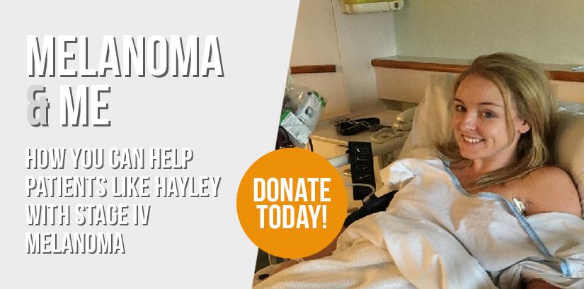 Hayley Polga, stage IV Melanoma
