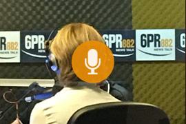 Spotscreen on 6PR Drive radio in Perth